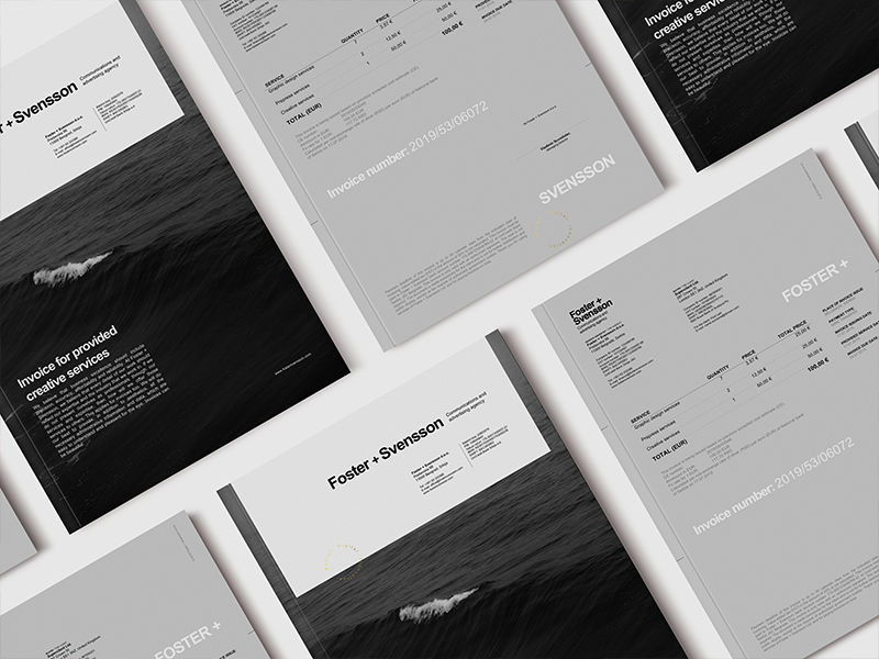 Foster + Svensson Invoice Redesign