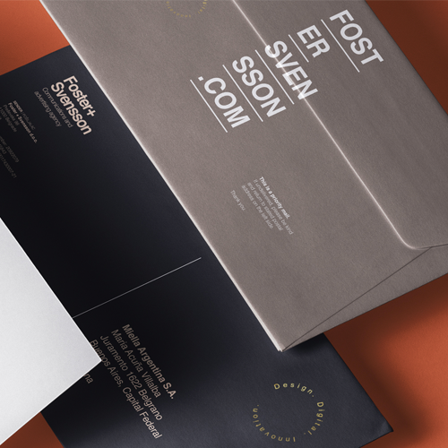 The World Brand Design Society Features Foster + Svensson Brand Identity3500