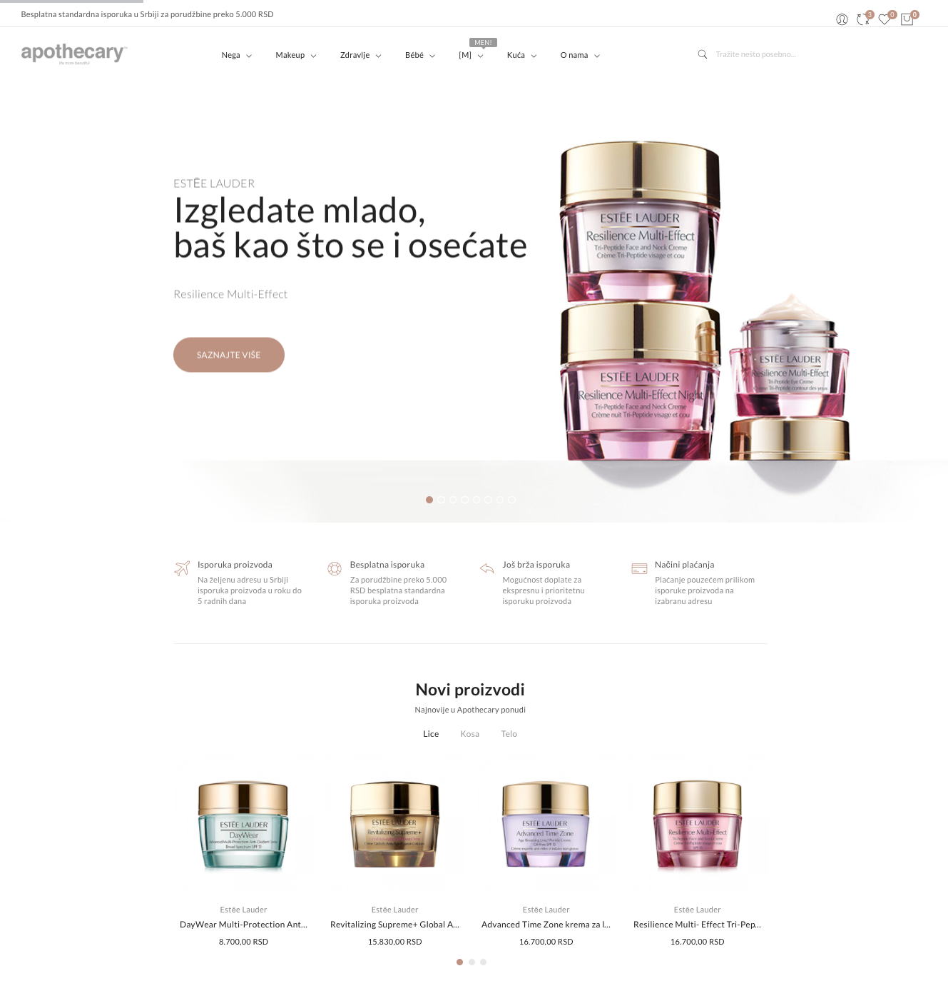 Apothecary Website Homepage