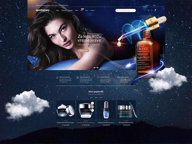Apothecary Homepage In Dark Mode Portfolio