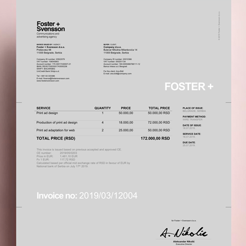 The World Brand Design Society Features Foster + Svensson Brand Identity2500